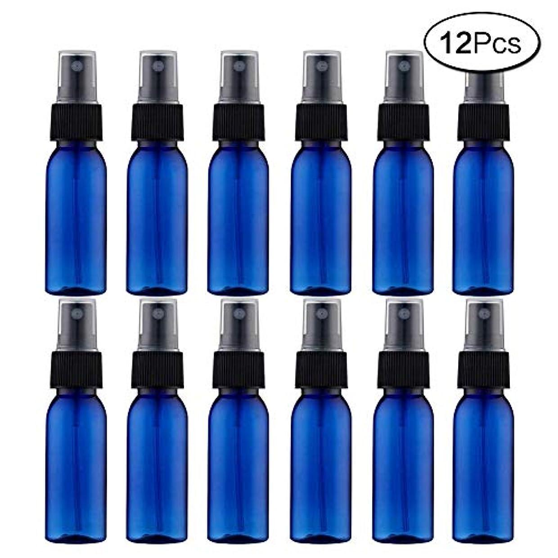 中にビュッフェ実質的スプレーボトル 12本セット 詰替ボトル 遮光 空容器 霧吹き(30ml ブルー)