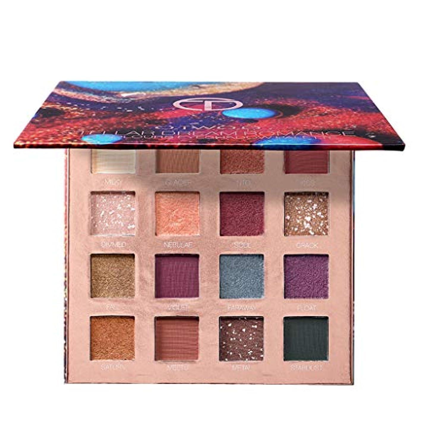 毎日床を掃除する悪名高いLazayyii アイシャドウ化粧品マットアイシャドウクリームメイクアップパレットシマーセット 16色 (01#)
