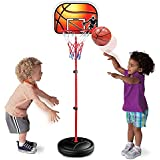 Liberty Imports Kids Portable Mini Basketball Hoop & Stand | Height Adjustable Toy Set with Metal Rim, Ball & Net | Indoor Outdoor Kit for Toddlers, Children