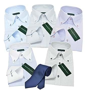(グリニッジ ポロ ) GREENWICH POLO CLUB pc 5枚 ネクタイ1本セット ワイシャツ yシャツ 3L-レギュラーサイズ 形態安定