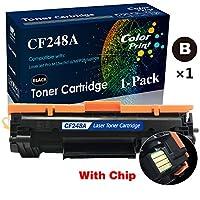 ColorPrint CF248A 48Aトナーカートリッジ 互換 1パック HP Laserjet Pro M15w 15a MFP M28w 28aプリンター用 (1x ブラック)