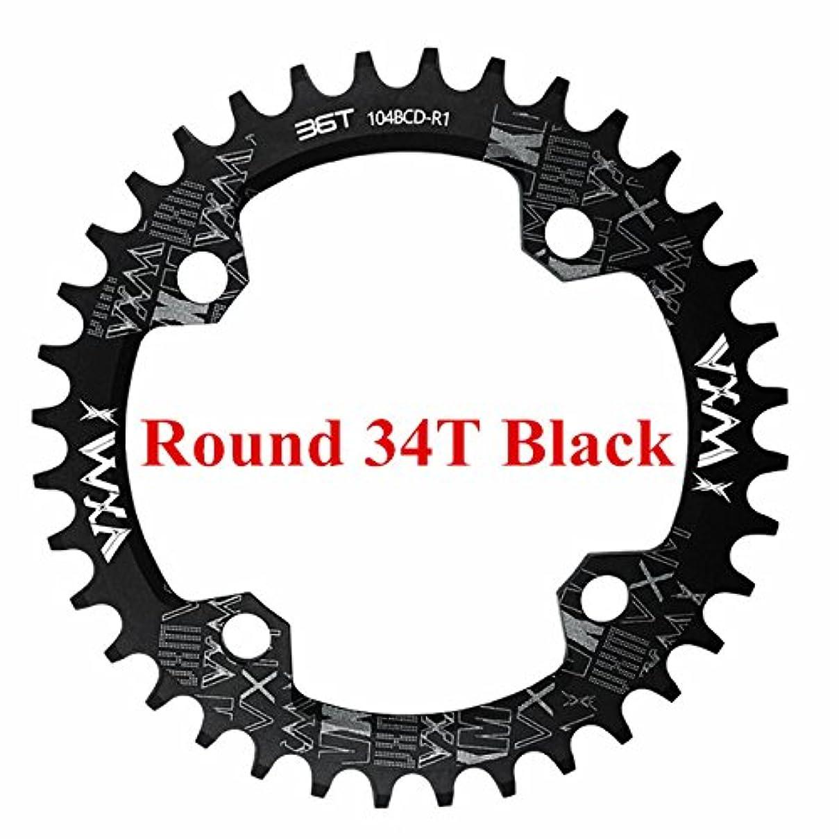 息子うがい薬逆にPropenary - 自転車104BCDクランクオーバルラウンド30T 32T 34T 36T 38T 40T 42T 44T 46T 48T 50T 52TチェーンホイールXT狭い広い自転車チェーンリング[ラウンド34T...