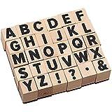 30ピースシンプルな文字記号シール英語単語ソリッドウッドラバースタンプセットdiyツール