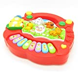 Children Baby ベビー Kids Musical Educational Animals Farm Piano Interesting Music Toys Red レッド [並行輸入品]