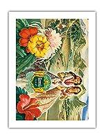 ハワイUSA - ハワイ(T.H.)観光局ブックレットのテリトリーをカバー - によって作成された アンドレ c.1942 - アートポスター - 46cm x 61cm