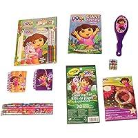 Dora the ExplorerアクティビティGiftセット~ Best Friends日(ブレスレットキット、鉛筆、Crayolaパッド、Giantアクティビティ小冊子、ノートブック、ブラシ、パズルキューブ、アクティビティセット; 8項目、1バンドル)