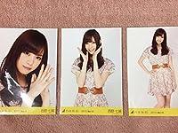 乃木坂46 西野七瀬 花柄ワンピース 2013.March 3種 コンプ 生写真