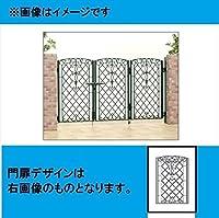 三協アルミ 門扉 キャスリート 1型 3枚折りセット 門柱タイプ 0812   アートグリーン(GA)