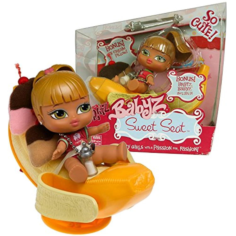 MGA EntertainmentブラッツBabyz So Cuteシリーズ5インチ人形Sweetシートセット – バナナ分割ラウンジチェアwith Iceクリーム枕とFianna人形