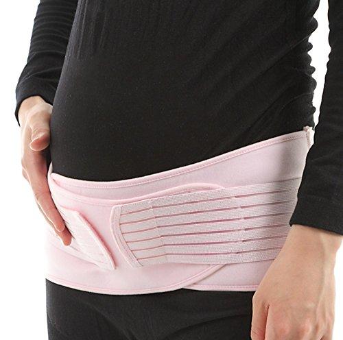 【AMAYA】 かんたん装着 ダブルベルト 妊婦帯 腹帯 産前 産後 骨盤ベルト (フリーサイズ) NT01 (ピンク)