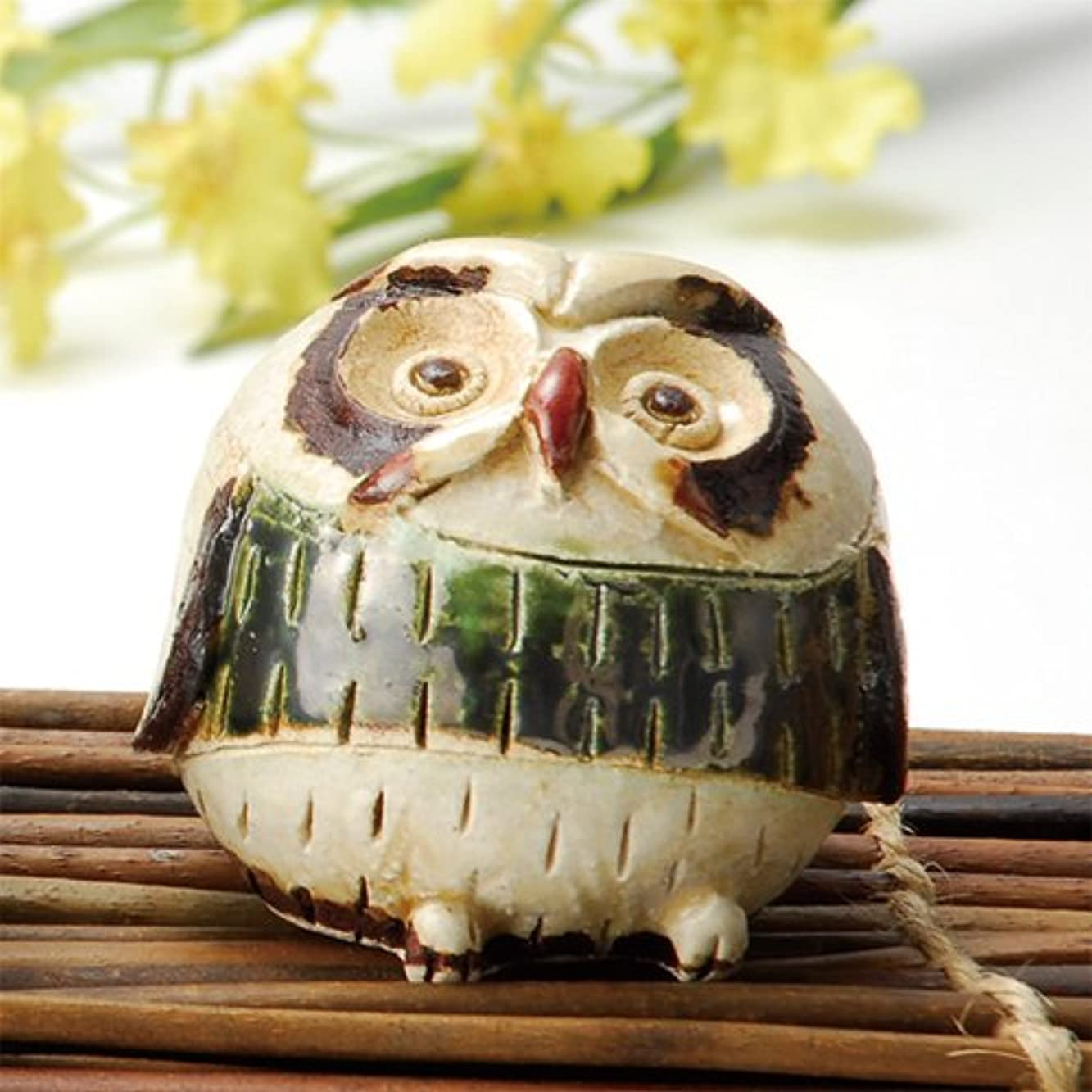 キャラクター適用済み名誉香炉 白萩 フクロウ 香炉(小) [H7cm] HANDMADE プレゼント ギフト 和食器 かわいい インテリア