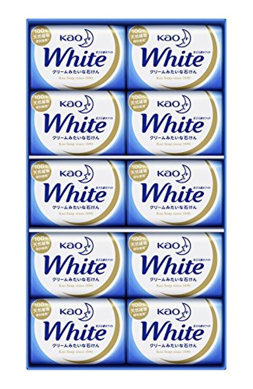 ウェイタースタックぜいたく花王ホワイト ギフト 85g 10コ K?W-10