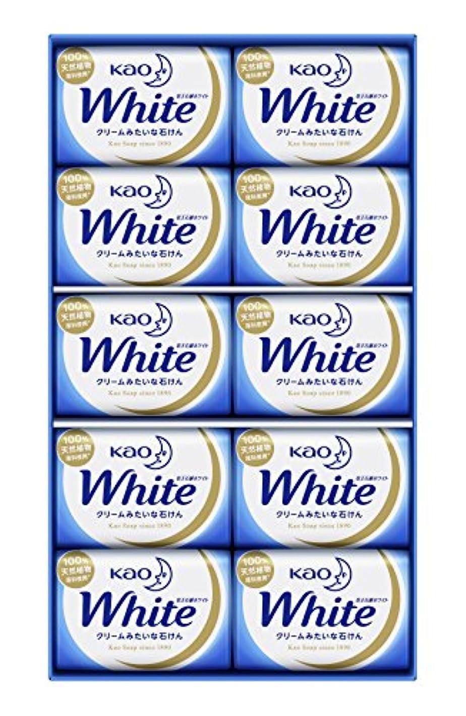 真夜中うれしい木製花王ホワイト ギフト 85g 10コ K?W-10