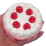 超低反発 大きい 誕生日 ケーキ 美味しさ 食品サンプル スクイーズ ストレス解消 バースデ プレゼント ピンク