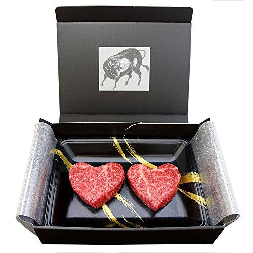 [肉贈] バレンタイン 米沢牛 かわいい ハート型 特選 ギフト 赤身 モモ ステーキ110g × 2枚