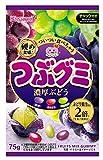 春日井製菓 つぶグミ濃厚ぶどう 75g ×6袋