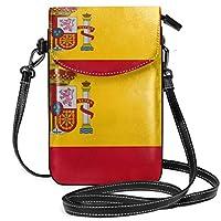 Spain Flag 斜め掛け ポシェット ボディバッグ ショルダーポーチ 携帯ポーチ カード収納ポケット カード入れ 小物入れ 肩掛け 軽量 小さめ お洒落 人気 シンプル 多機能 レディース