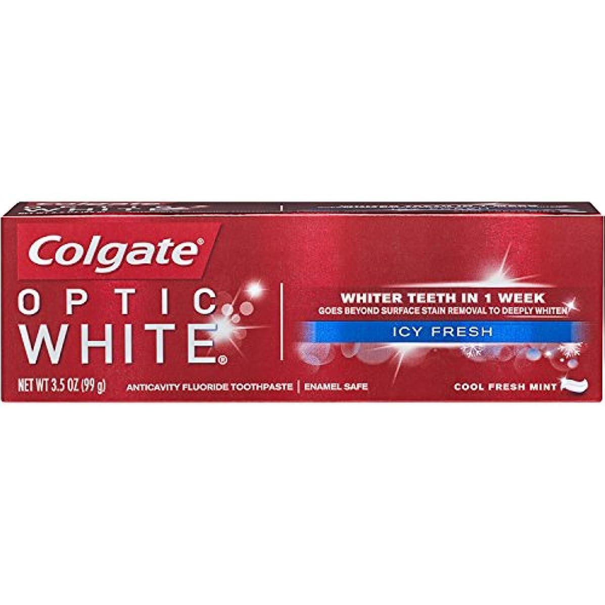 エゴマニアびんの間にColgate Optic White コルゲート Icy Fresh アドバンス ホワイトニング 99g