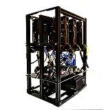 フロー6.1?GPU MiningリグOpen Airフレームコンピュータケースシャーシwith 6?USB Risers???イーサリアムETH Bitcoin BTC