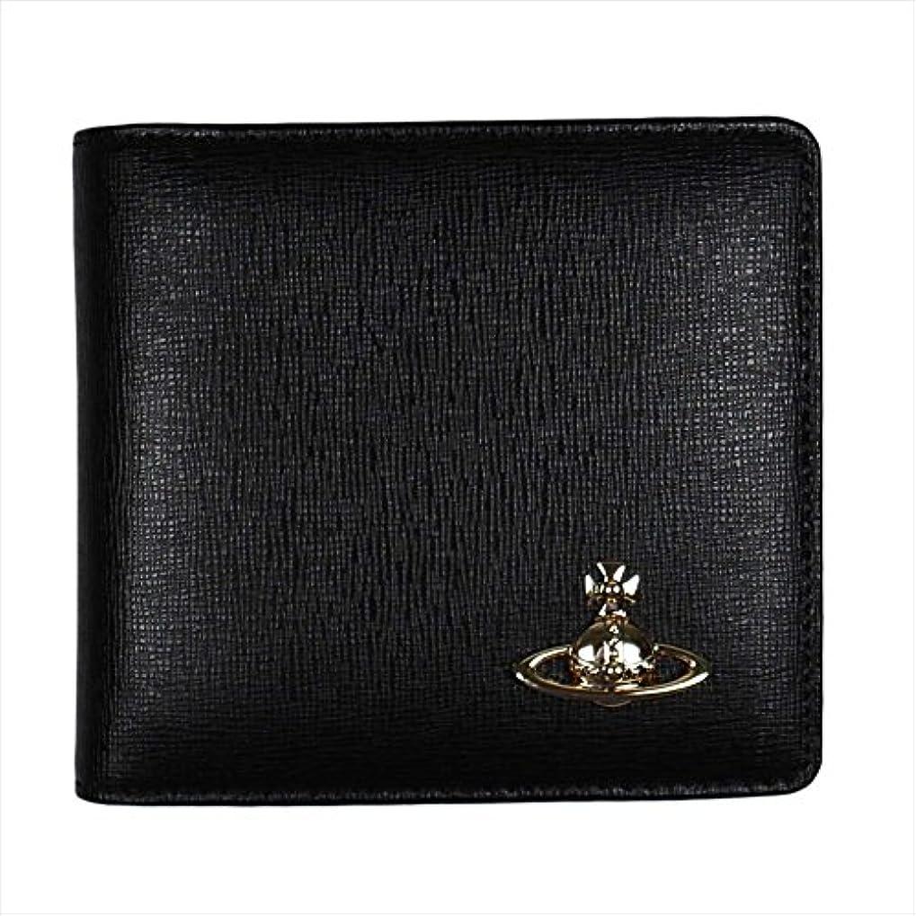 伝統コンテンポラリーバドミントン(ヴィヴィアン?ウエストウッド) Vivienne Westwood ヴィヴィアンウエストウッド 財布 51010009 二つ折り 財布 折りたたみ 財布 SAFFIANO BLACK ブラック 黒 [並行輸入品]
