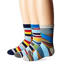 Jefferies Socks Big Boys' Funky Stripe Crew Socks
