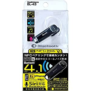 カシムラ Bluetooth 4.1 NFC イヤホンマイク BL-43