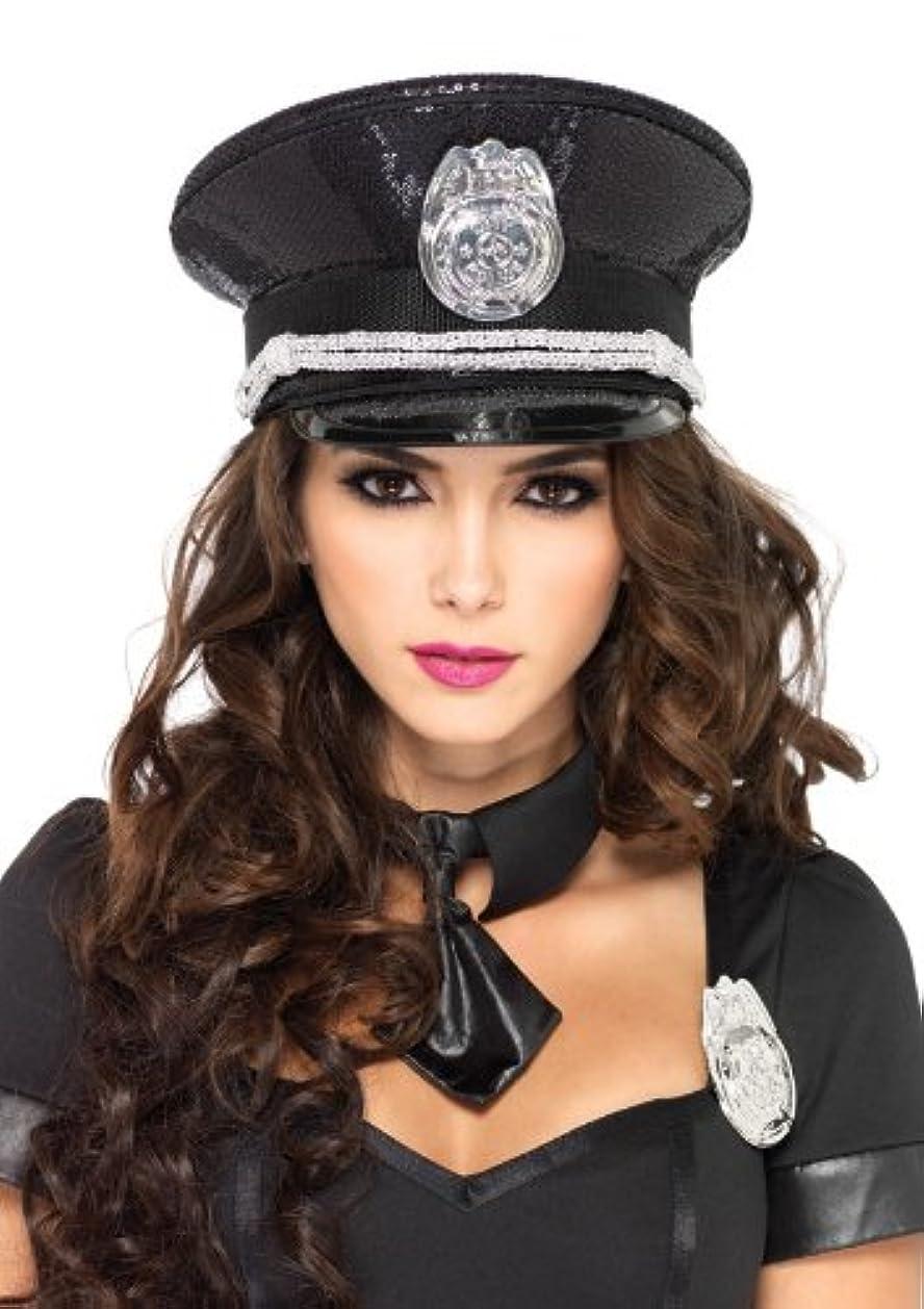 メイエラグループ楽しむ【即納】Leg Avenue Sequin cop hat ハロウィンコスチューム ポリス?警察官?囚人?セキュリティー コスチュームアクセサリー HAT?帽子 [サイズ:ONE SIZE]