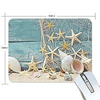マウスパッド 海藻貝殻 ゲーミングマウスパッド 滑り止め 19 X 25 厚い 耐久性に優れ おしゃれ