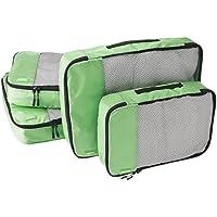 AmazonBasics 4-Piece Packing Cube Set - 2 Medium and 2 Large, Green