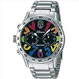 (エンジェルクローバー) ANGEL CLOVER 時計 メンズ LC42ROSSRB ロエンコラボレーション 10気圧防水 腕時計 ウォッチ ブラック/シルバー[並行輸入品]