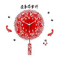 クロッククリエイティブクォーツ時計の壁時計モダンなリビングルームアートウォールクロックシンプルなファッション EBODONG