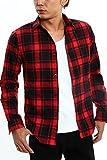 インプローブス imp 長袖 チェックシャツ チェック シャツ ネルシャツ レッド M