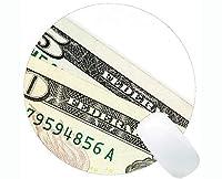パーソナライズされた丸いマウスパッド、ステッチされたエッジを持つマネーアメリカ通貨丸いマウスパッド