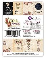 プリママーケティング6553509921013x 4Journaling Cards–Love Clippingsアート