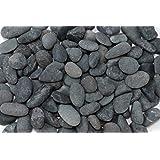 那智黒石 1袋20kg入り<玉砂利> 8分(直径約25-50mm)