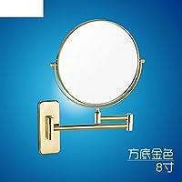 バスルーム壁ミラー/折りたたみミラー/伸縮/バスルームミラーSided Magnifying mirror-f