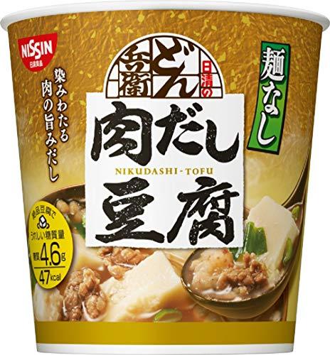 日清食品 日清麺なしどん兵衛 肉だし豆腐スープ 12個