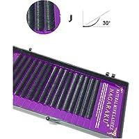 アイライナー 16行ナチュラルメイクまつ毛黒つけまつげアイまつげエクステンションツール、カール:J、厚さ:0.07 mm(8 mm) 化粧 (色 : 15mm)