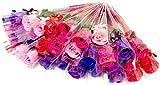 3world プチギフト 薔薇 フレグランス ソープフラワー ラッピング済み 結婚式 退職 引越し 挨拶 ノベルティ 粗品 SW482 ミックスカラー 30本