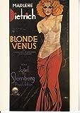 #451【ポストカード-輸入版】 [BLONDE VENUS ]MARLENE Dictrich 当時販売物(フランス版)
