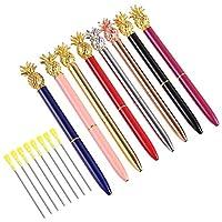 Pearls Pen イミテーションパール 8本 ボールペン キラキラ輝くメタルボールペン 学校/オフィス用 12色16本パック 3.2インチ ボールペンリフィル (パールペン8本)