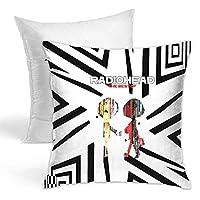 レディオヘッド Radiohead正方形枕 抱き枕 枕の芯 印花 枕カバー 装飾枕 クッション 椅子 シートクッション