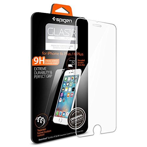 Spigen iPhone6s Plus ガラスフィルム / iPhone6 Plus ガラスフィルム, [ 液晶保護 9H硬度 Rラウンド 加工 ] GLAS.tR SLIM アイフォン6s プラス / 6 プラス 用 (iPhone6s Plus / 6 Plus, GLAS.tR SLIM (1枚入))