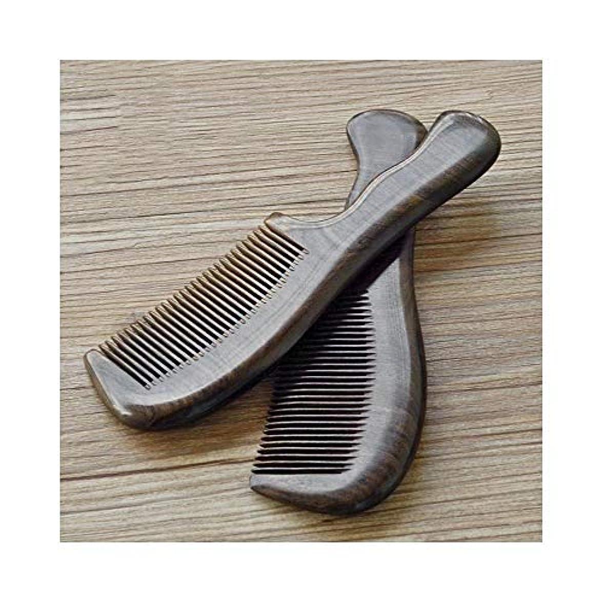 ブレークバット取り組むFashian手作りのサンダルくし静的な天然サンダルウッドくしファイン歯ヘアコーム ヘアケア