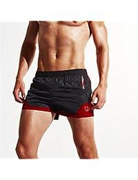 軽量ルーズサーフパンツ サンドプルーフビーチパンツ メンズ (色 : ブラック, サイズ : XXL)