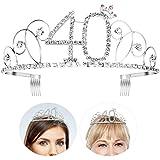 Frcolor Birthday Crowns Rhinestone Birthday Tiara Happy Th Birthday As Shown