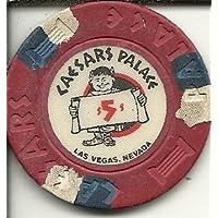 $ 5 Caesars Palace Vintage Rare Obsoleteラスベガスカジノチップ