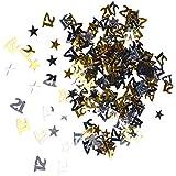 D DOLITY 誕生日紙吹雪 テーブルデコレーション ブラック シルバー ゴールド 3仕様選べ - 21