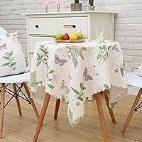 ラウンドテーブルクロス スクエアテーブルクロス - 防水とホット - 小さな新鮮な庭のファブリックティーテーブルクロス テーブルクロス (色 : F f, サイズ さいず : Square tablecloth-90*90cm)