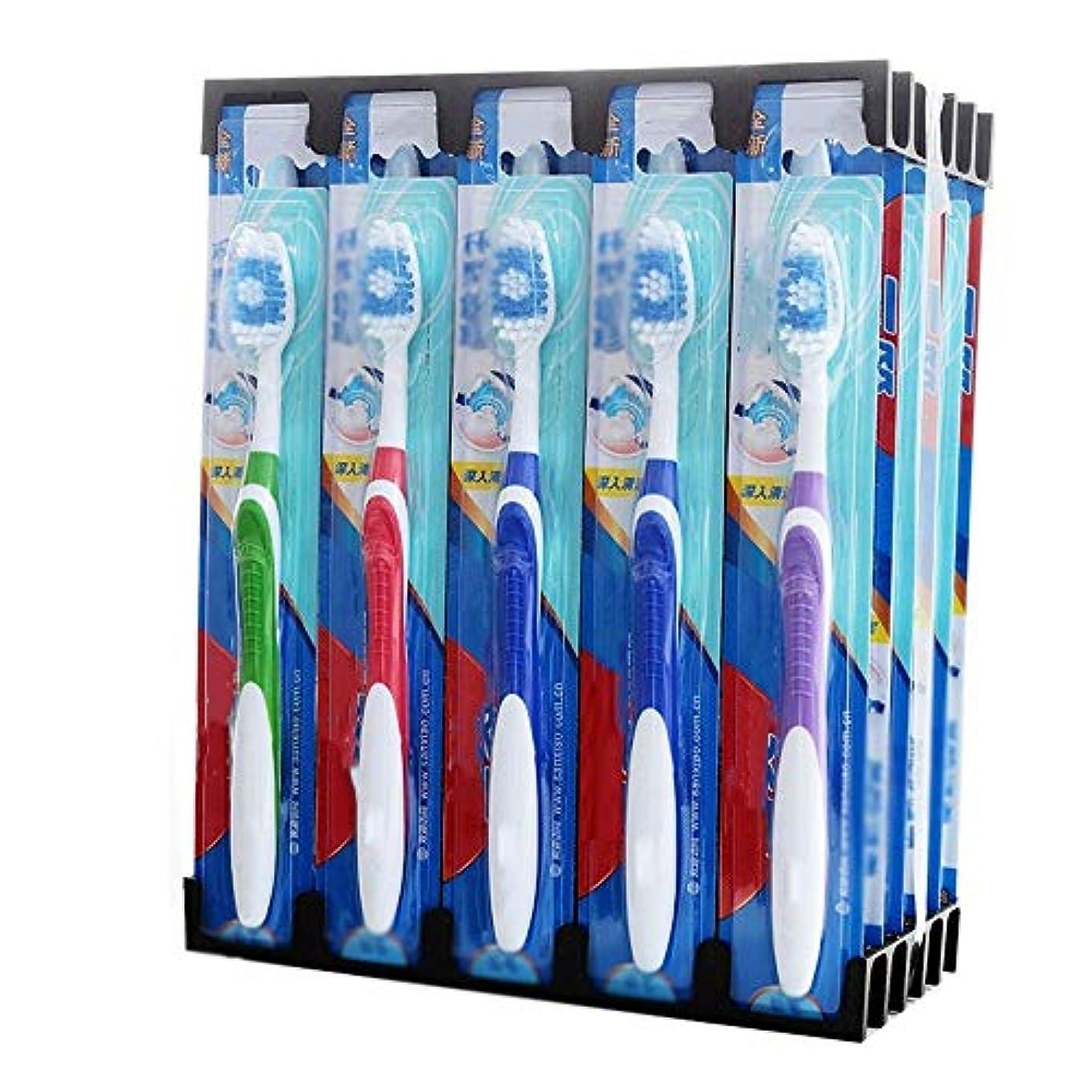 誘惑する欲求不満なので歯ブラシ 30本の歯ブラシ、旅行柔らかい歯ブラシ、歯ブラシのバルク極細歯ブラシ - 使用可能なスタイルの3種類 HL (色 : B, サイズ : 30 packs)